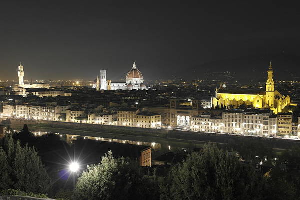 Martini Wall Art - Photograph - Florence By Night by Alberto Martini