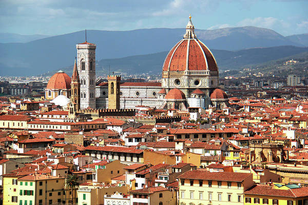 Christianity Photograph - Florence Cathedral Il Duomo Di Firenze by Ash-photography - Www.flickr.com/photos/ashleiggh/