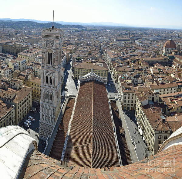 Wall Art - Photograph - Florence Cityscape From Top Duomo by Sami Sarkis