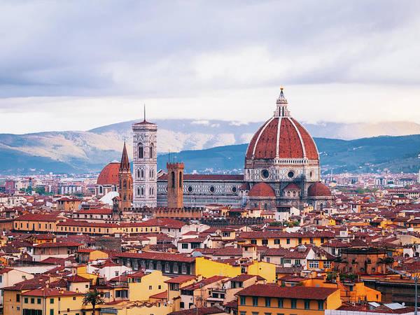 Photograph - Florence, Dome Santa Maria Del Fiore by Deimagine