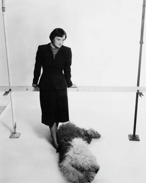 Furniture Photograph - Florence Knoll And Her Dog by Herbert Matter