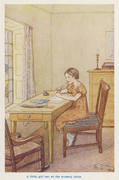 Wall Art - Drawing - Florence Nightingale -  As A Young Girl by Mary Evans Picture Library