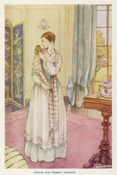 Wall Art - Drawing - Florence Nightingale  At Home by Mary Evans Picture Library