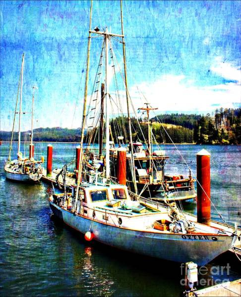 Wall Art - Painting - Florence Oregon Sailboats by Barbara Chichester