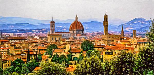 Florence Panorama - Paint Art Print