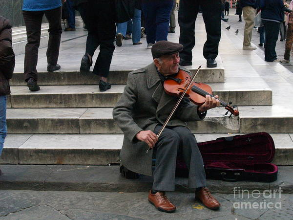 Photograph - Florence Violinist by Robin Maria Pedrero