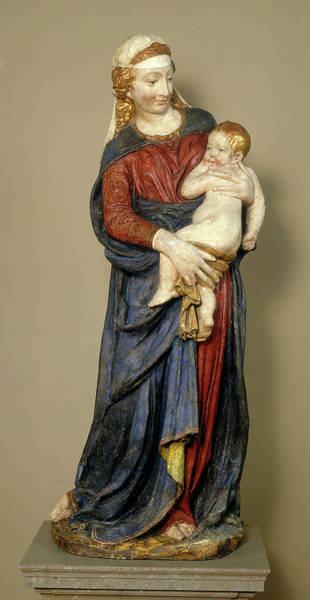 Wall Art - Painting - Florentine 15th Century, Madonna And Child by Litz Collection