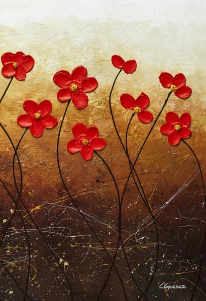 Painting - Flores De Mi Jardin 3 by Carmen Guedez