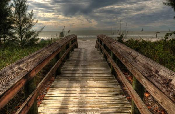 Florida Beach Entrance With A Beautiful Sky Art Print
