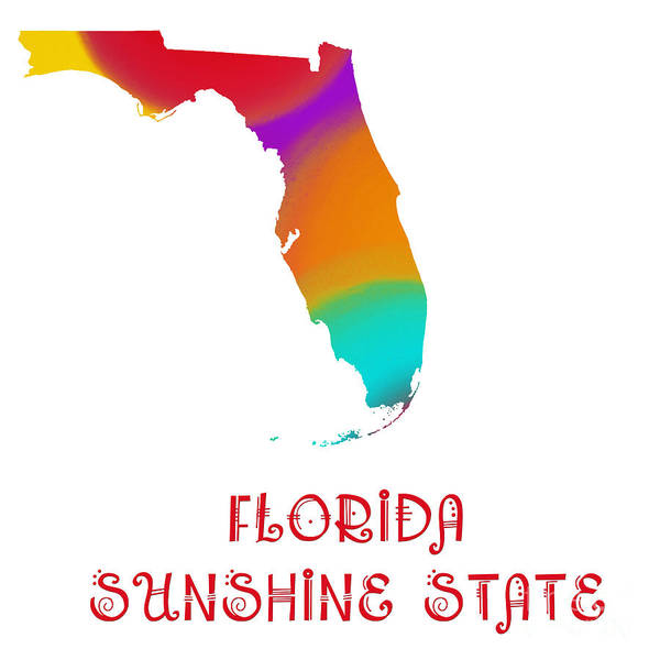 Digital Art - Florida State Map Collection 2 by Andee Design