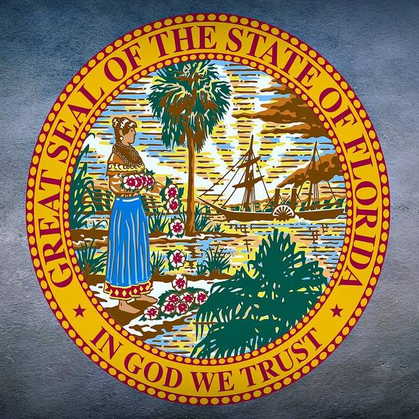 Digital Art - Florida State Seal by Movie Poster Prints