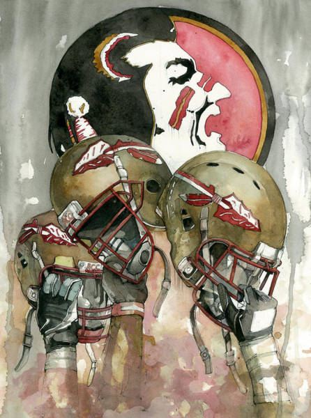 Logos Painting - Florida State Seminoles by Michael Pattison