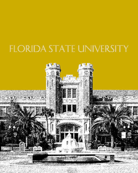 Graduation Digital Art - Florida State University - Gold by DB Artist