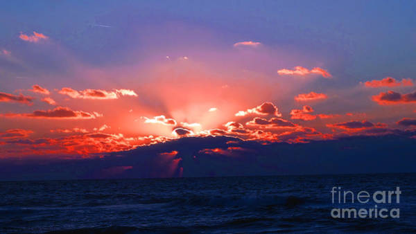 Photograph - Florida Sunset Beyond The Ocean by Gena Weiser