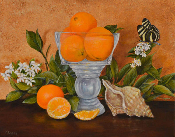 Painting - Florida Symbols  by Nancy Lauby