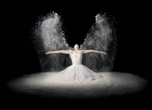 Holy Spirit Photograph - Flour Wings by Pauline Pentony Ba