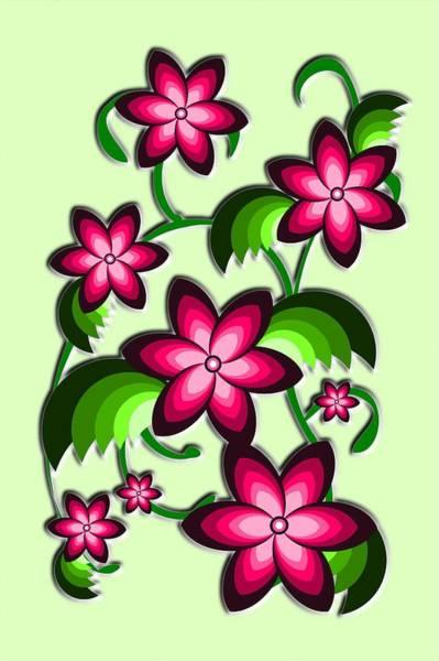 Digital Art - Flower Arrangement by Anastasiya Malakhova