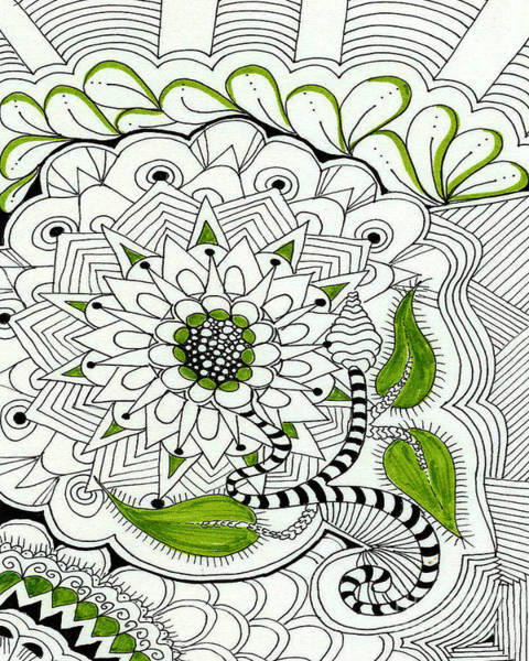 Pen And Ink Mixed Media - Flower Basket by Ruth Dailey