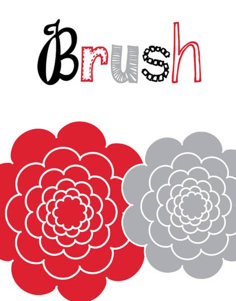 Bath Room Wall Art - Painting - Flower Brush Rose by Tamara Robinson