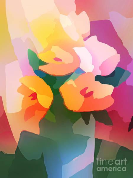 Digital Art - Flower Deco II by Lutz Baar