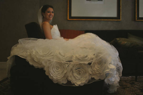Wall Art - Photograph - Flower Dress Bride by Mike Hope