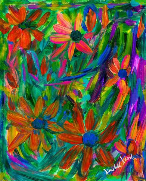 Painting - Flower Fall by Kendall Kessler