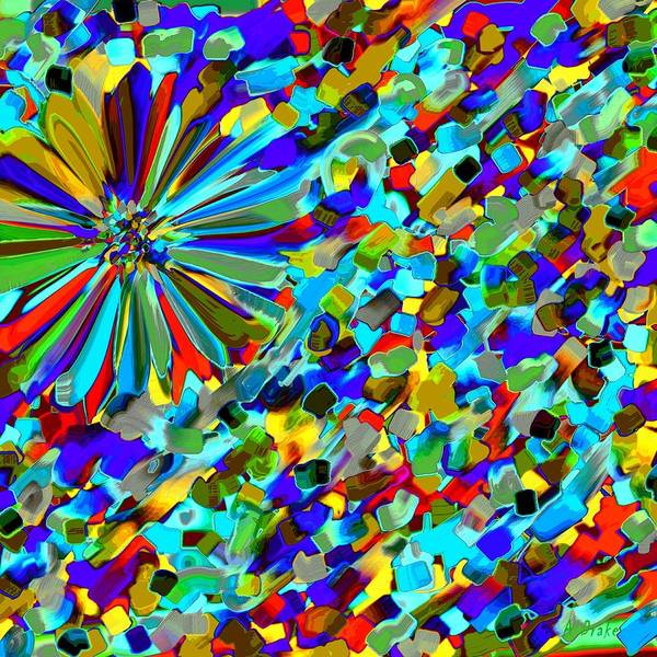 Digital Art - Flower Fight Abstract by Alec Drake