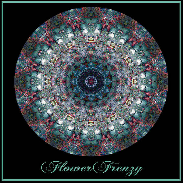 Digital Art - Flower Frenzy No 1 by Charmaine Zoe