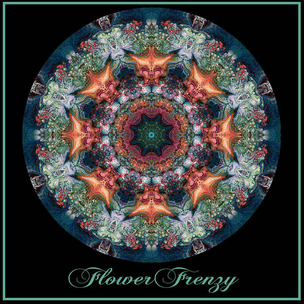 Digital Art - Flower Frenzy No 5 by Charmaine Zoe