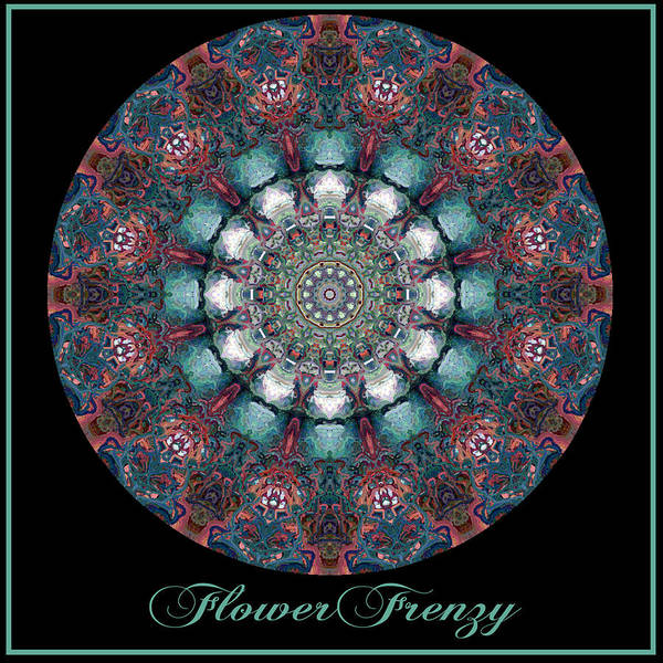 Digital Art - Flower Frenzy No 7 by Charmaine Zoe