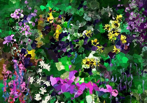 Wall Art - Digital Art - Flower Garden by David Lane