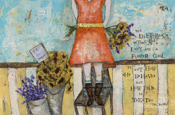Wall Art - Mixed Media - Flower Girl by Kirsten Reed