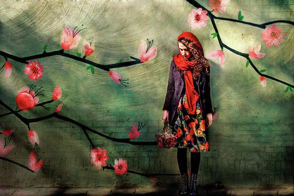 Scarf Wall Art - Photograph - Flower Girl by Sahar Karami