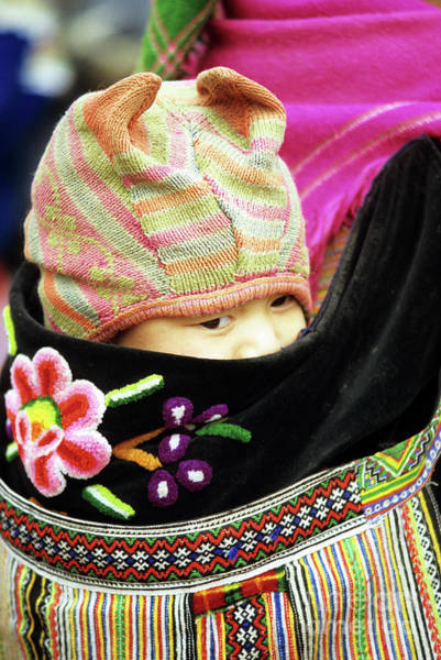 Ethnic Minority Photograph - Flower Hmong Baby 02 by Rick Piper Photography