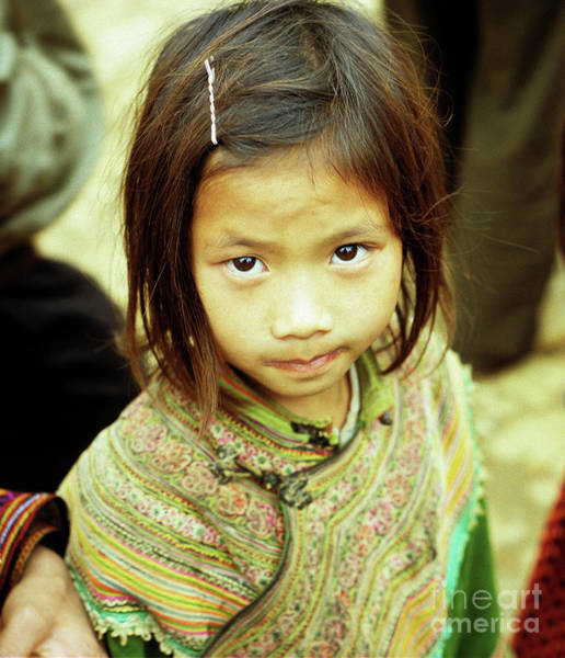 Ethnic Minority Photograph - Flower Hmong Girl 02 by Rick Piper Photography