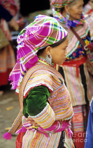 Ethnic Minority Photograph - Flower Hmong Girl 03 by Rick Piper Photography