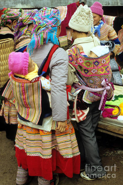 Ethnic Minority Photograph - Flower Hmong Mothers And Babies by Rick Piper Photography
