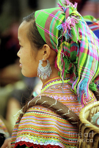 Ethnic Minority Photograph - Flower Hmong Woman by Rick Piper Photography