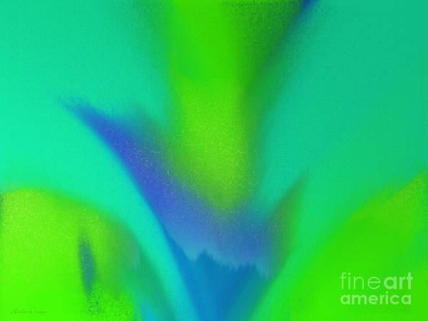 Digital Art - Flower In Bloom Stage 1 Abstract by Andee Design