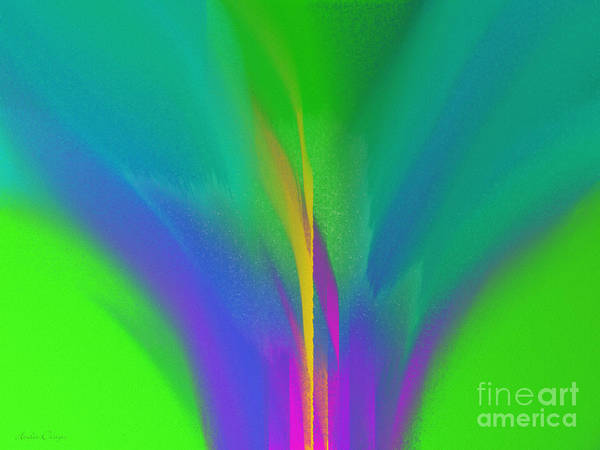 Digital Art - Flower In Bloom Stage 3 Abstract by Andee Design