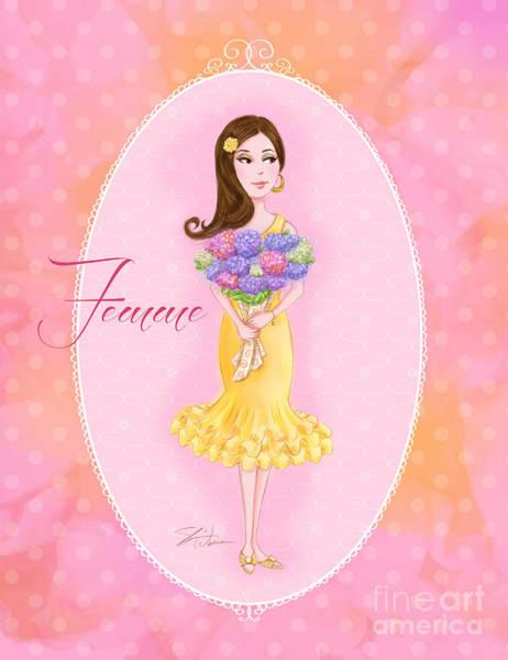 Mixed Media - Flower Ladies-femme by Shari Warren