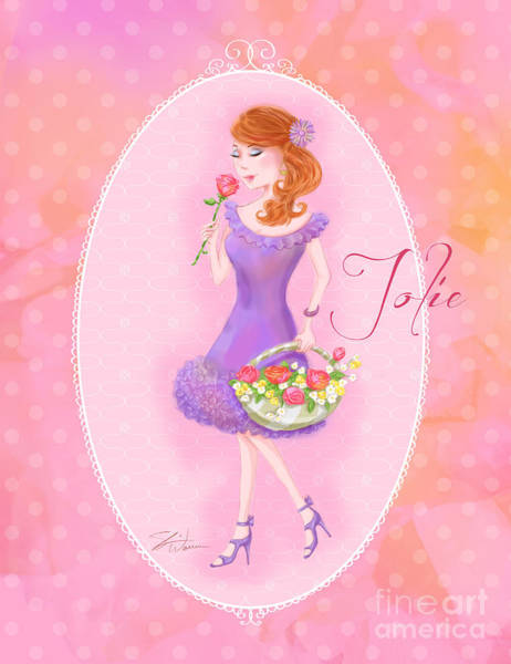 Mixed Media - Flower Ladies-jolie by Shari Warren
