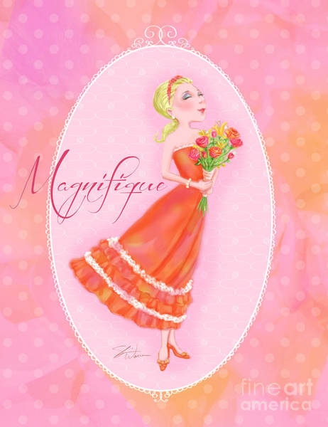 Mixed Media - Flower Ladies-magnifique by Shari Warren