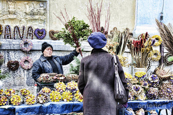 Photograph - Flower Lady - Zagreb by Crystal Nederman