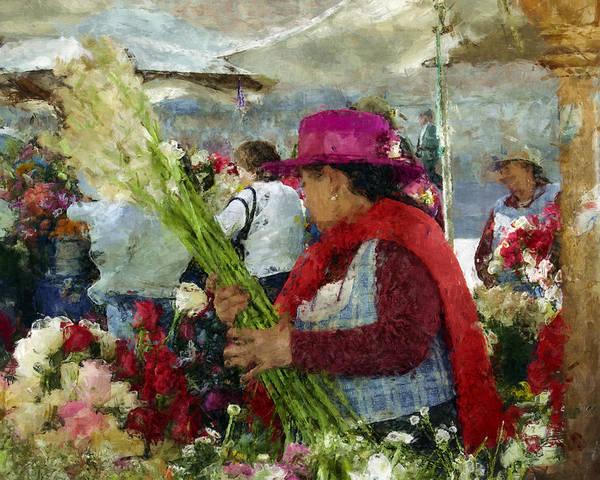 Photograph - Flower Market Cuenca Ecuador by Kurt Van Wagner