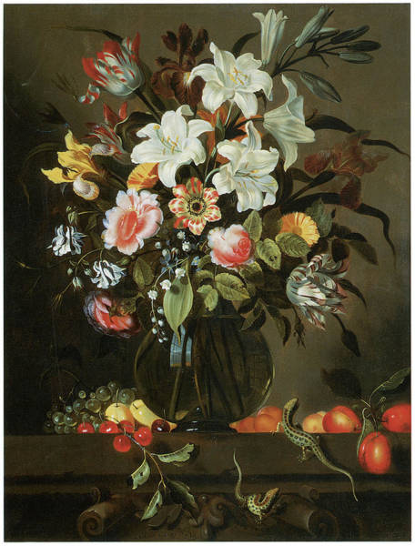 Master Piece Painting - Flower Piece by Jacob Marrell