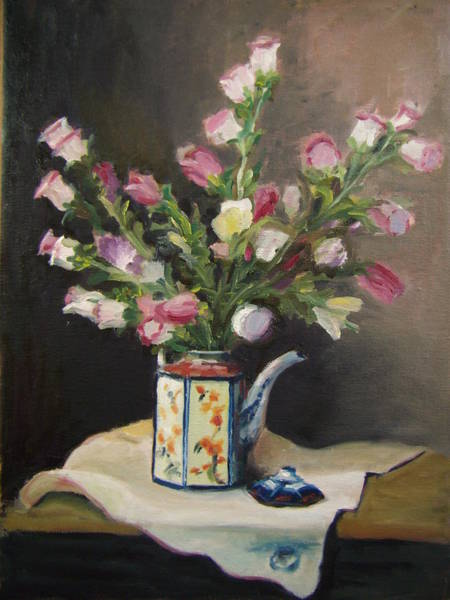Painting - Flower Pot by Nicolas Bouteneff