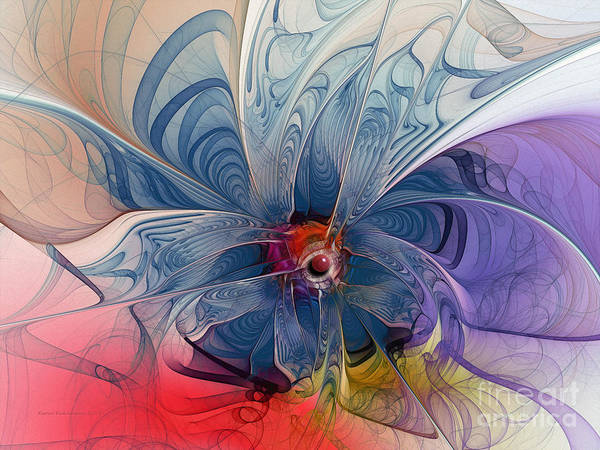 Blooms Digital Art - Flower Power-fractal Art by Karin Kuhlmann