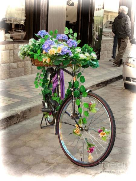 Photograph - Flower Power Meets Pedal Power  by Julia Springer