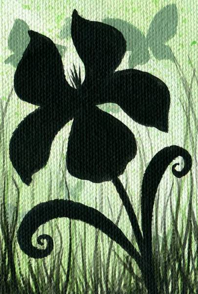 Wall Art - Painting - Flower Silhouette 10 by Elaina  Wagner